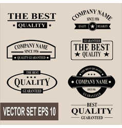 set vintage quality guaranteed labels vector image