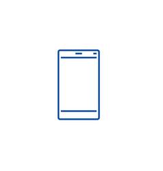 smartphone line icon concept vector image