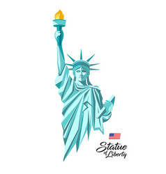 Statue liberty in united states vector