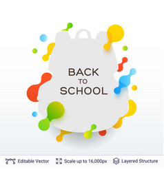 Student backpack silhouette and text vector
