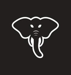 Stylish black and white icon indian elephant vector