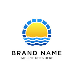 sunrise logo design template vector image