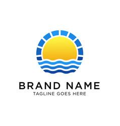 sunrise logo design template vector image