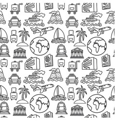 Travel seamles pattern vector