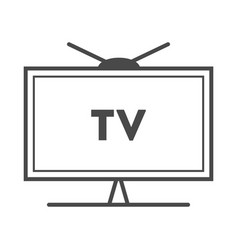 tv advertisement isolated icon vector image