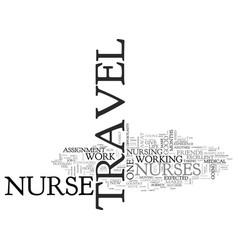Who makes a good travel nurse text word cloud vector