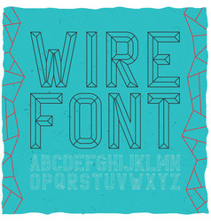 wirefont on blue vector image