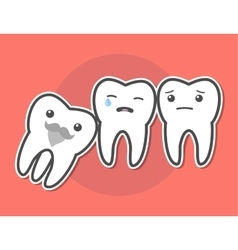 Wisdom tooth causes pain concept vector