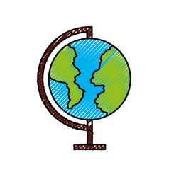 World planet school icon vector
