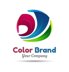 Business Abstract colorful logo on white vector image vector image