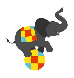 circus elephant on the ball icon vector image vector image