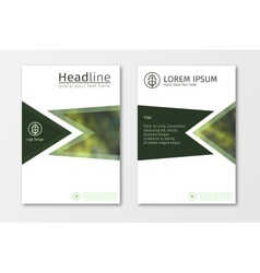 Green annual report business brochure flyer design vector image