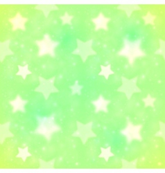 Green blurred stars seamless pattern vector image vector image
