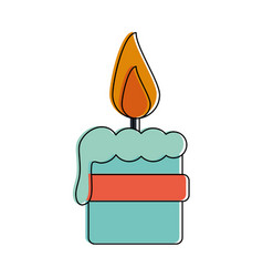christmas candle isolated vector image