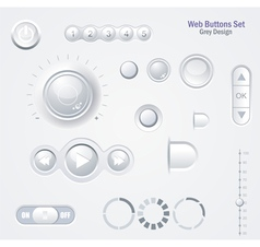 Controls Web Elements Buttons Switchers Player vector image
