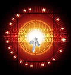 cursor click modern button vector image vector image