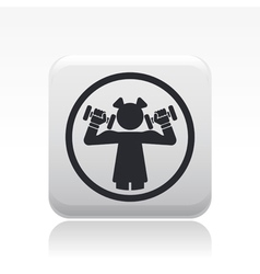 girl gym icon vector image vector image