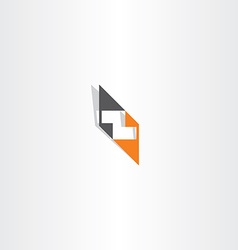 orange black letter z logo element vector image