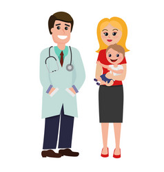 pediatrician doctor with vector image