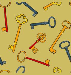retro keys colorful seamless pattern vector image vector image