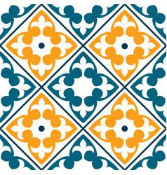 spanish tile pattern portuguese or moroccan tile vector image vector image