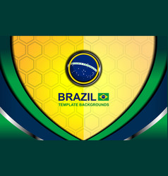 brazil flag color backgrounds style vector image