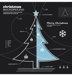 Christmas tree infographic design vector image