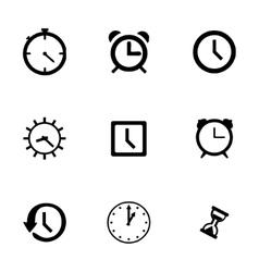 clock icon set vector image vector image