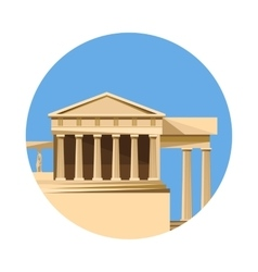 Greek parthenon icon isolated on white background vector image