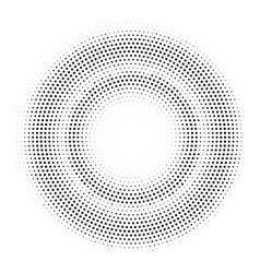Halftone double circle frame template vector