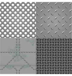 set of metal textures vector image