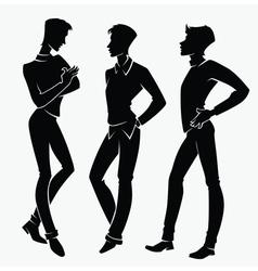 Three handsome men vector