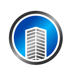 abstract commercial building emblem symbol design vector image vector image