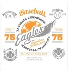 Baseball logo emblem badge and design elements vector image vector image