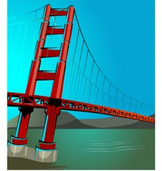 st Francisco bridge vector image vector image