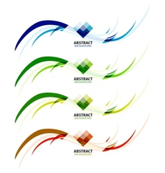 Abstract background colorful business wave line vector image