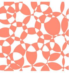 abstract coral intersecting circles seamless vector image