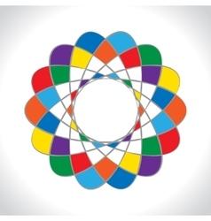 Abstract geometric logo icon Rainbow style vector