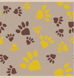 Animal foot prints vector