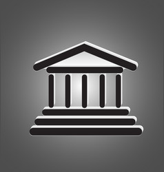 architecture column building icon vector image