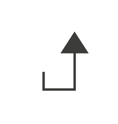 arrow icon collection in outlined or line art vector image