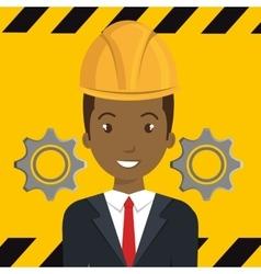 Avatar construction worker vector