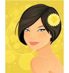Beautiful Brunette Woman Portrait vector image vector image