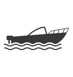boat icon flat style cartoon vector image
