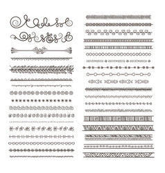 Borders and dividers hand drawn frames vector