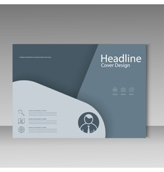 Brochure template cover material design vector