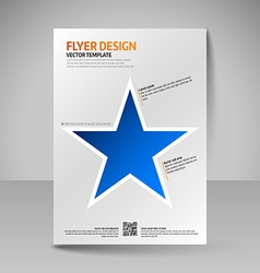 Business brochure Editable A4 poster for design vector