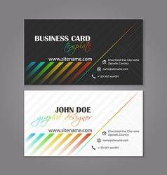 Business card template colorful design for vector image