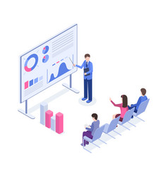 business presentation isometric color vector image