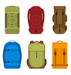 Camping backpacks icon vector